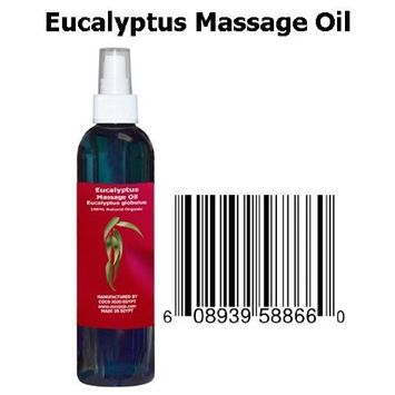 8 Oz Cocojojo Therapeutic Eucalyptus Essential Oil in 100% Natural Massage Oil Blend for Muscles Pain