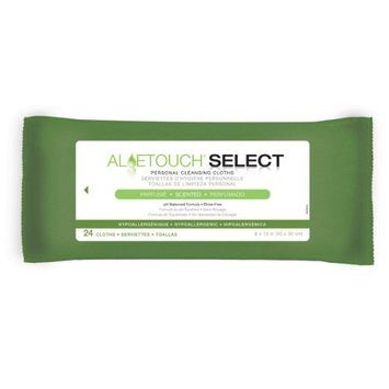 Medline AloeTouch Select 8 X 12 Inch Wipes in Neutral Scent - 24 Cloths Per Pack / Case of 24