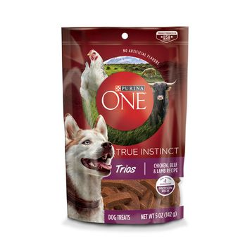 Purina ONE True Instinct Trios Chicken, Beef & Lamb Recipe Dog Treats - (5) 5 oz. Pouches