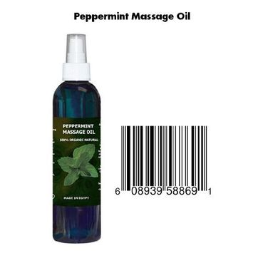 8 Oz Cocojojo Pure 100% Natural Massage Oil with Peppermint Essential Oil - Mint Oil