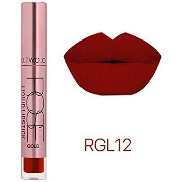Lipstick Set,Putars Fashion New 12 Colors Cosmetics Soft Matte Lip Liquid Gloss Lipstick Long Lasting