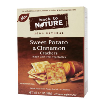 Back to Nature Sweet Potato Cinnamon Crackers