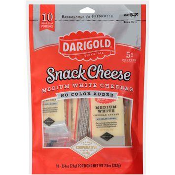 darigold® medium white cheddar no color added snack cheese 1