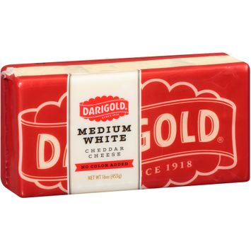 Darigold® Medium White Cheddar No Color Added Cheese