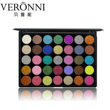 VERONNI 35 Colors Shimmer Glitter Eye Shadow Powder Palette Matte Eyeshadow Cosmetic Makeup From Fenleo
