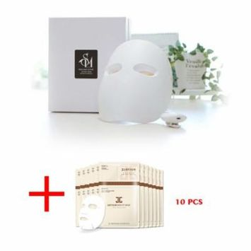 SOLLUME ESTHE Korea Skin Rejuvenation Anti-Aging LED Photon Light Therapy Facial Real Mask with Free Gift JAYJUN Skin Fit Mask (10 Sheets)
