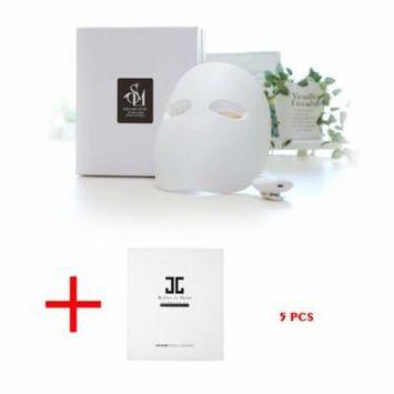 SOLLUME ESTHE Korea Skin Rejuvenation Anti-Aging LED Photon Light Therapy Facial Real Mask with Free Gift JAYJUN Refine to Shine Vita Snow Mask (5 Sheets)