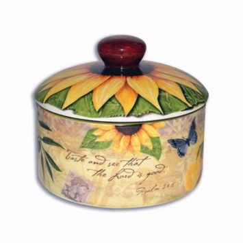 Sugar Bowl W/Lid-Bella Vita Collection (4.5