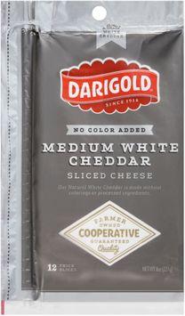darigold® medium white cheddar sliced cheese