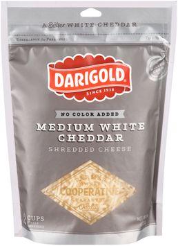 darigold® medium white cheddar shredded cheese