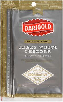 darigold® sharp white cheddar sliced cheese