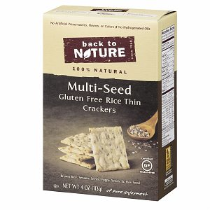 Back to Nature Gluten Free Rice Thin Crackers