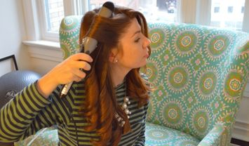 How to curl your own hair with a curling iron