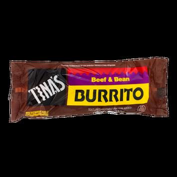 Tina's Burrito Beef & Bean