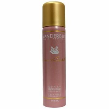 Vanderbilt by Gloria Vanderbilt for Women. Perfumed Deodorant Spray 2.5 Oz / 75 Ml