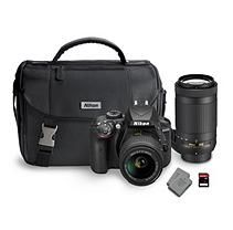 Nikon D3400 DX Bundle with AF-S DX NIKKOR 18-55mm and 70-300mm lens