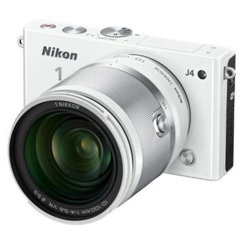 Nikon J4 18.4 MP Digital Camera with NIKKOR 10-100mm Lens - White