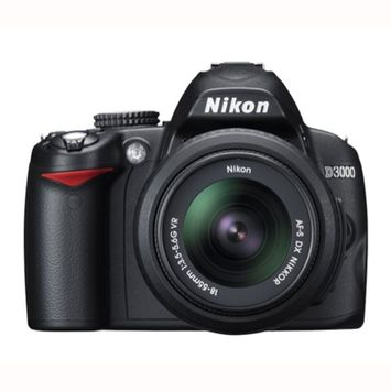 Nikon D3000 DX Digital Camera W/ 18-55mm VR Lens 25462