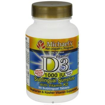 Michaels Naturopathic Programs Vitamin D3 1000 IU with K2 Sublingual - 90 - Tablet