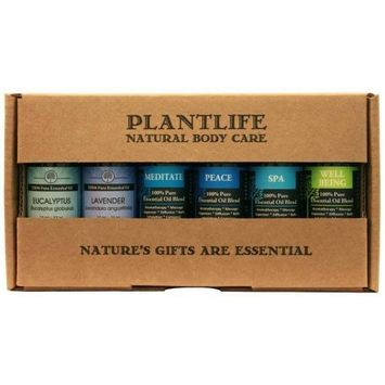 Plantlife Spa @ Home Essential Oil Gift Set - 6 10ml In Box