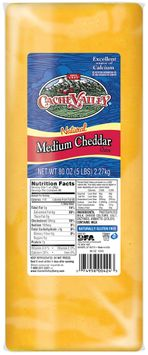 Cache Valley® Natural Medium Cheddar Cheese