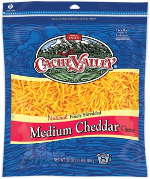 cache valley® natural finely shredded medium cheddar cheese