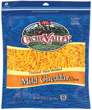 Cache Valley® Natural Finely Shredded Mild Cheddar Cheese