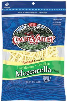 cache valley® natural shredded mozzarella cheese