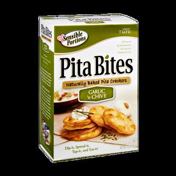 Sensible Portions Pita Bites Garlic 'n Chive Naturally Baked Pita Crackers