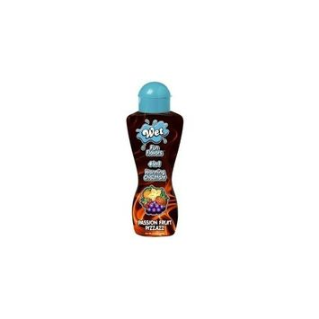 Wet Lubes Passion Fruit Pizzazz Fun Flavors Body Glide, 8.6-Ounce Bottle