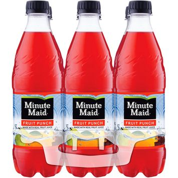 Minute Maid Fruit Punch Drink, 16.9 Fl Oz, 6 Count