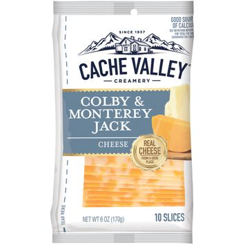 Cache Valley® Creamery Colby & Monterey Jack Cheese Slices 10 ct Bag