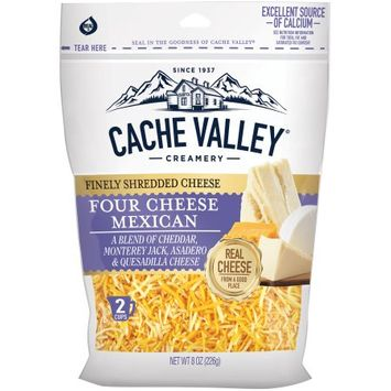 cache valley® creamery four cheese mexican finely shredded cheese blend