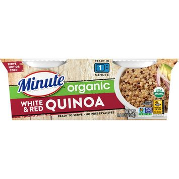 Minute Ready-To-Serve Organic White and Red Quinoa, 2/4.4-Ounce Cups