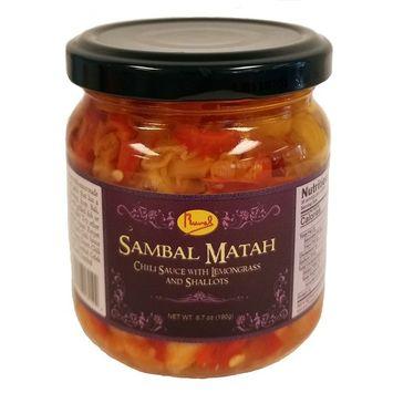 Runel Sambal Matah - Chili Sauce with Lemongrass and Shallots - (Pack of 6) (Matah)