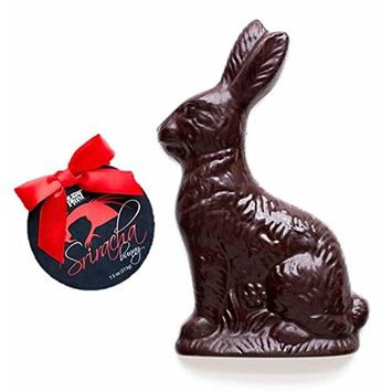 Solid Chocolate Easter Bunny Rabbit - Best Quality Premium Gourmet Gift (Spicy Sriracha) 8oz