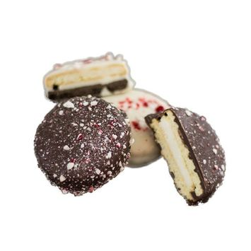 Holiday Milk & White Chocolate Cream Filled Peppermint Sandwich Cookies [Peppermint Milk & White Chocolate]