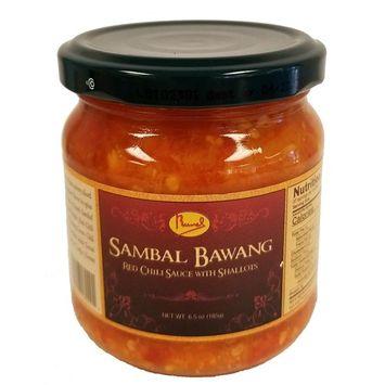 Runel Sambal Bawang - Red Chili Sauce with Shallots - (Pack of 6) (Bawang)