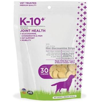 K-10+ Advanced Chewable Grain Free Joint Health Formula for Dogs [Options : 30-pack]