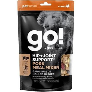 Petcurean Go! Hip + Joint support Grain Free Freeze Dried Pork Meal Mixer for Dogs [Options : 3.5-oz]