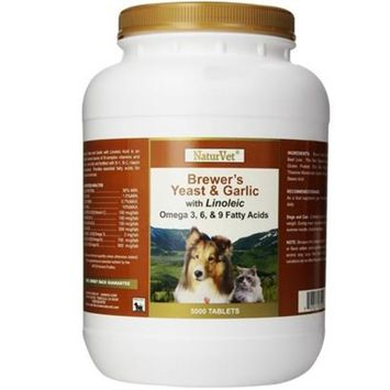 NaturVet Brewer's Yeast & Garlic with Linoleic [Options : 5000 tables]
