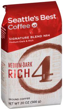 seattle's best coffee® medium-dark & rich signature blend no 4 ground coffee