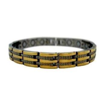 Electrified Feel Better Jewelry ELECTRIFIED FEEL BETTER EJWJ-1242SG Titanium Bracelet with 14 Neodymium Magnets