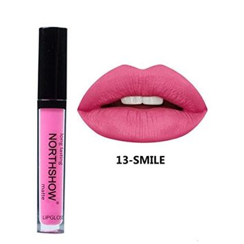 Aurorax NORTHSHOW Liquid Lipstick Soft Matte Long-Lasting Lip Gloss