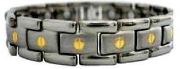 Electrified Feel Better Jewelry ELECTRIFIED FEEL BETTER EJWJ-456SG Titanium Bracelet with 15 Neodymium Magnets