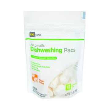 DG Home Automatic Dishwashing Pacs - 12 Pack