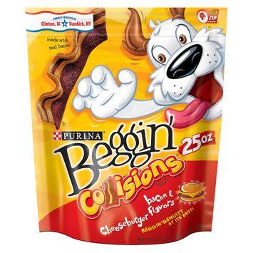 Beggin'® Collisions® Bacon & Cheeseburger Flavor Dog Treats