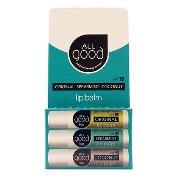 Elemental Herbs All Good Lips Lip Balm - SPF12 - Package of 3