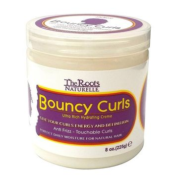 The Roots Naturelle Curly Hair Products Bouncy Curls (8 Ounce). Moisturizing Anti-frizz Cream for Natural Hair