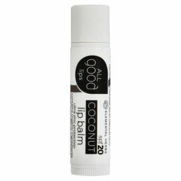 Elemental Herbs - All Good Lips SPF 20 Lip Balm Coconut - 4.25 Gram(s) (pack of 6)